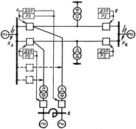 Рисунок 1. Первичная схема коммутации ВЛ 110 кВ
