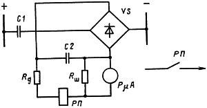 Рисунок 1. Электрическая схема приставки для контроля аккумуляторной батареи