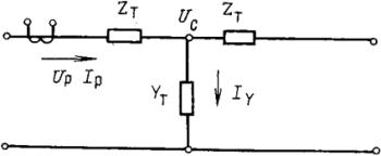 Рисунок 3. Схема замещения ВЛ по Т - образной схеме